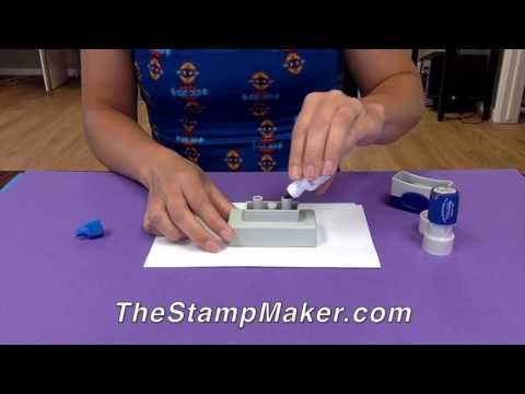 How to Re-Ink A Maxlight Stamp