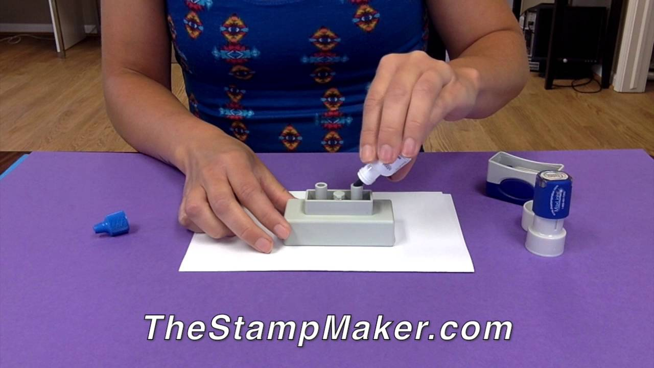Re Inking Custom Rubber Stamps