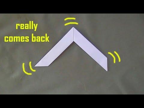 Cara Membuat Boomerang Dari Kertas- Bisa kembali