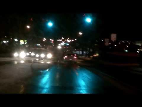 110129 Car Drive, my hometown at dusk & dark