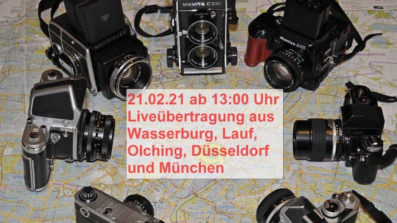 21.02.21 Liveübertragung aus Wasserburg, Lauf, Olching, Düsseldorf und München