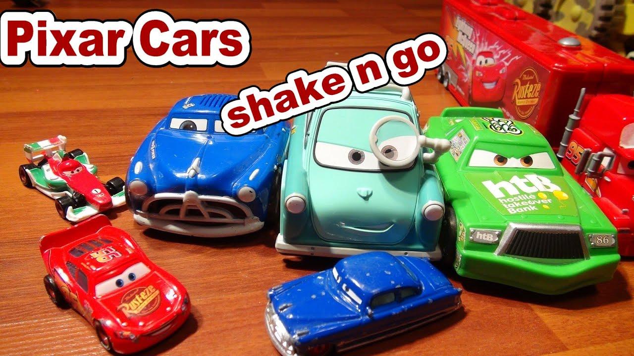 Disney Pixar Cars Shake And Go Chick Hicks Doc Hudson And Professor Zeeee Youtube