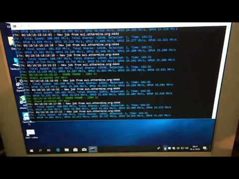 Ethereum Mining With Geforce GTX 1070, GTX 1080 And  GTX 1050 Ti Gaming (100 Mh/s)