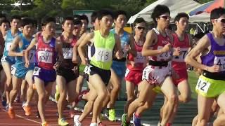 2017.5.20 平成国際大学長距離競技会 男子5000m9組 岩原大学デビュー、怪...