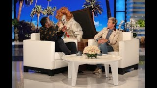 "Sean ""Diddy"" Combs assured Ellen that the rumor of him being scared of clowns was absolutely not true, but Ellen's secret scare proved otherwise."