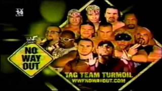 WWF No Way Out 2002 Matchcard