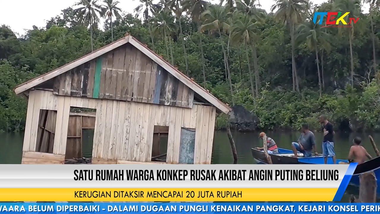 Satu Rumah Warga Konkep Rusak Akibat Angin Puting Beliung