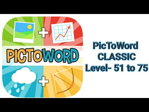 PicToWord Level-51 to 75 | V THINK ABOUT U