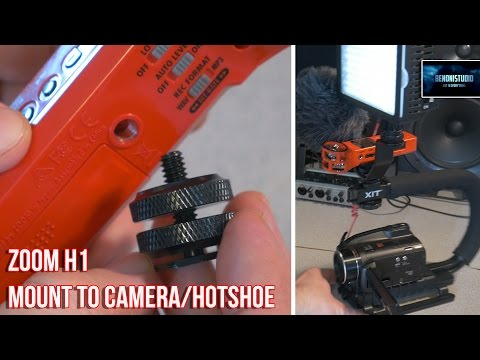 ZOOM H1 | MOUNT TO CAMERA/HOTSHOE [FOR $5!]