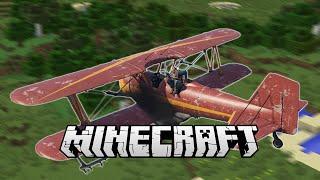PLANE CRASH! FLIGHT MOD - Minecraft Mod Showcase