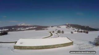 Ardèche - La ferme de Bourlatier sous la neige (2016)