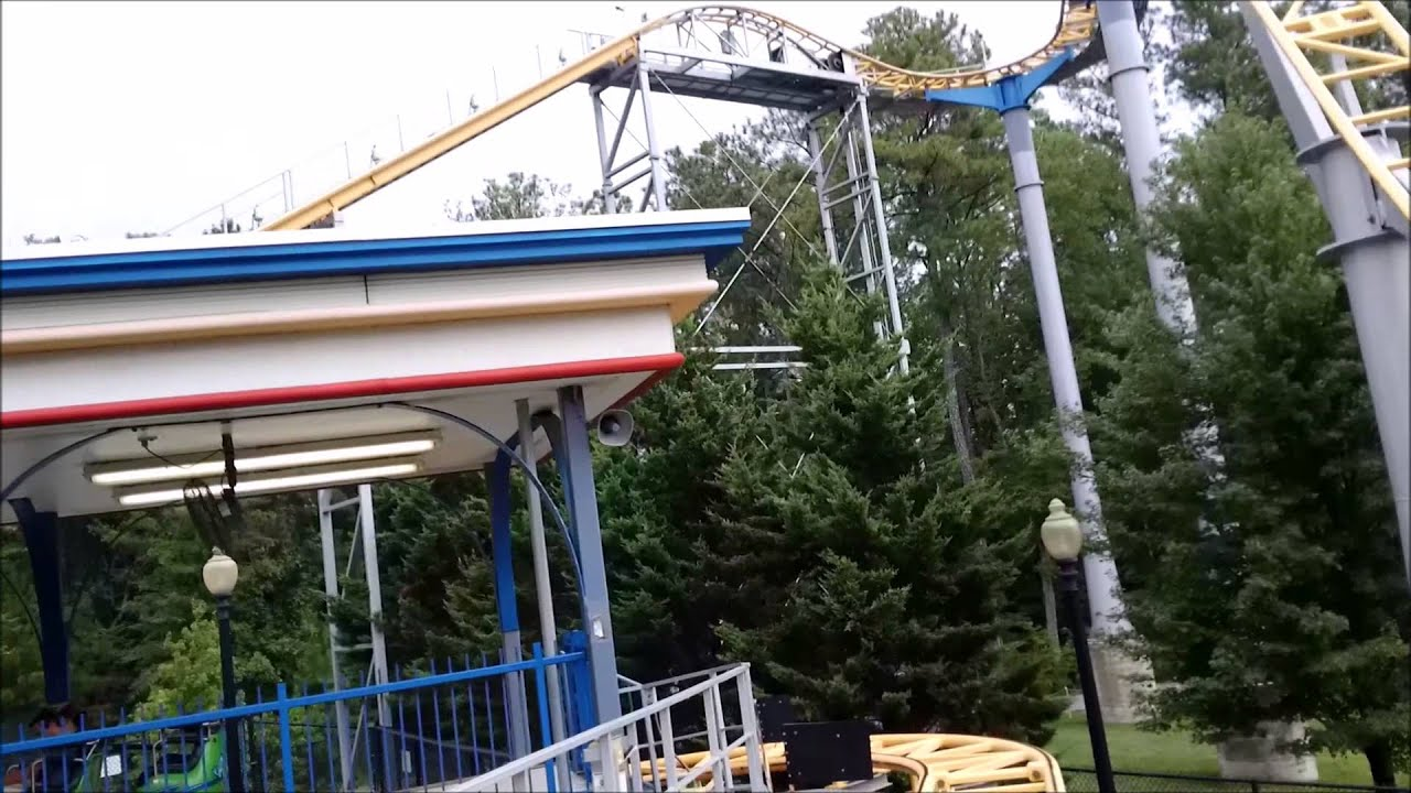 kings dominion ricochet on ride front row pov august 17 2014