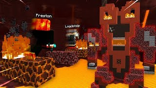 MINECRAFT ESCAPE THE LAVA BEAST PARKOUR!