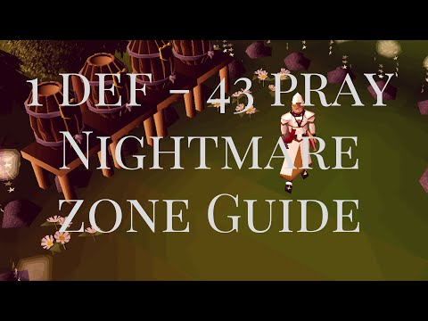 [OSRS] Nightmare Zone Guide for 1 def - 43 Pray pures - 65k xp p/h + 300k Points