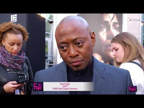 Omar Epps on the new TRAFFIK film red carpet