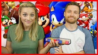 One of Spencer & Alex's most viewed videos: MARIO & SONIC RIO 2016 OLYMPIC GAMES W/ THE BEAN BOOZLED CHALLENGE!