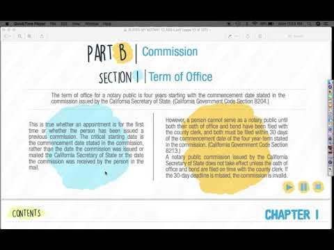 California Notary Public E Course Chapter 1 (1/4 videos)