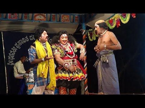Yakshagana -- Tulu - Punnameda Ponnu - 4 - Hasya: Bhagavatharu Sathyanarayana Punchithaya Perla -  Maddale Padre Shridhar -  Sundara bangady As Pili purusha -  T.K.Kotian as Soorappa moorthi -  Shiva kumar Moodabidri as Apoorva -  ಸಸಿಹಿತ್ಲು ಮೇಳದ ಪುಣ್ಣಮೆದ ಪೊಣ್ಣು  - by Sasihithlu Mela -  Held at Yedapadavu ,on 23.3.2017