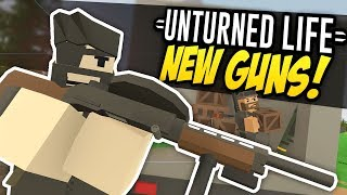 One of Fudgy's most viewed videos: NEW GUNS - Unturned Life Roleplay #313