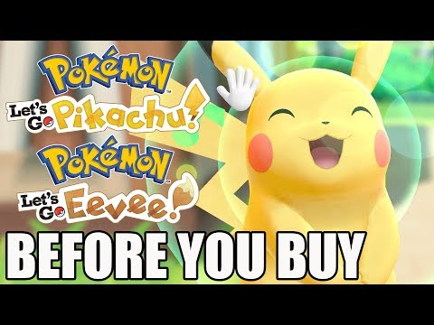 Pokémon Let's Go, Pikachu! and Let's Go, Eevee! - 15 Things You Need To Know Before You Buy