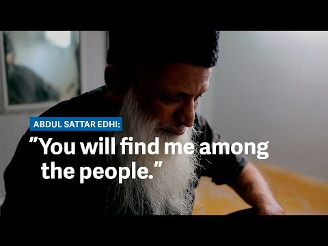"Abdul Sattar Edhi, Pakistan's ""angel of mercy"""