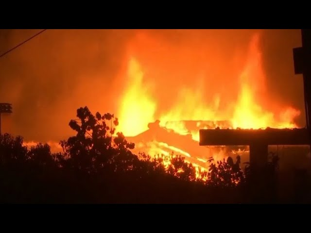 Deadly wildfires rage in Greece