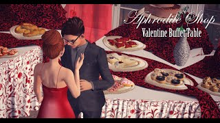 Aphrodite Shop - Valentine Buffet Table by Fashiowl