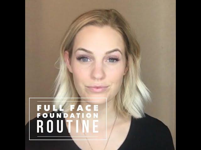 Senegence Full Face Foundation Routine Youtube