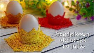 Szydełkowy stojaczek na jajko