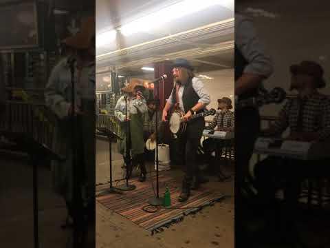 Jimmy Fallon and Christina Aguilera in Subway Station NYC June 13th