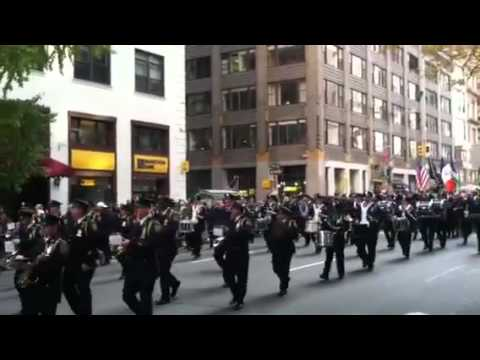 New York City police band at Veterans Day parade