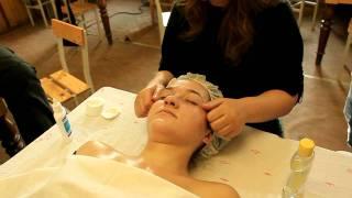массаж лица часть 2