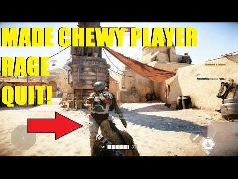 Star Wars Battlefront 2 - MADE A CHEWY PLAYER RAGE QUIT HVSV! XD thumbnail