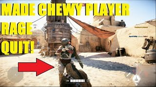 Star Wars Battlefront 2 - MADE A CHEWY PLAYER RAGE QUIT HVSV! XD
