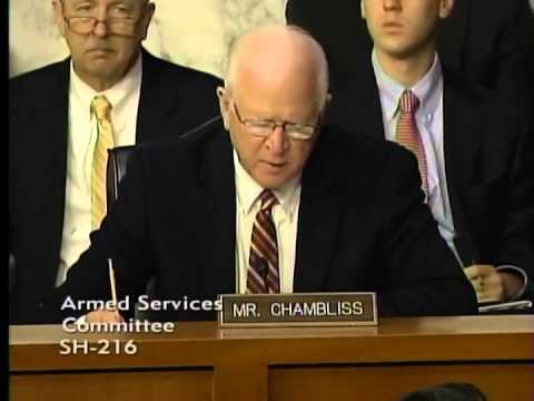 Chambliss at Senate Armed Services Committee Hearing on DoD Budget FY15