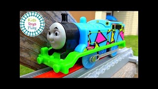 Thomas and Friends Train Race and Crash Compilation