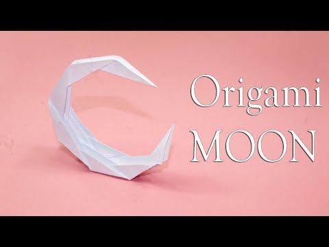 How to Make a Paper MOON - Origami Moon for Kids