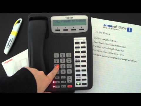 Programming Call Forwarding on Toshiba Phone Systems