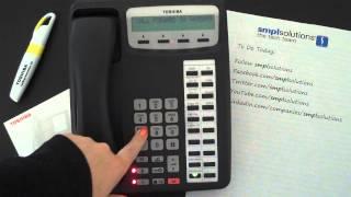 Programming Call Forwarding on Toshiba Phone Systems