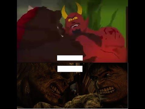 Satan V ManBearPig and  Hulk V Abomination are The Same Fight