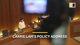 Hong Kong Chief Executive Carrie Lam's second annual policy address
