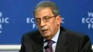 Bloqueio à Faixa de Gaza GAZA BLOCKADE Amre Moussa, Davos