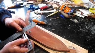 Como hacer una funda de cuchillo para Daga de Caza Mayor. Vídeo 5 de 7
