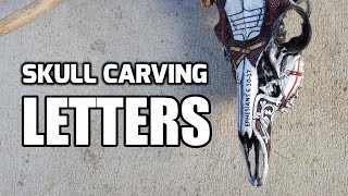How to Carve Letters in BONE (Using a Dremel)