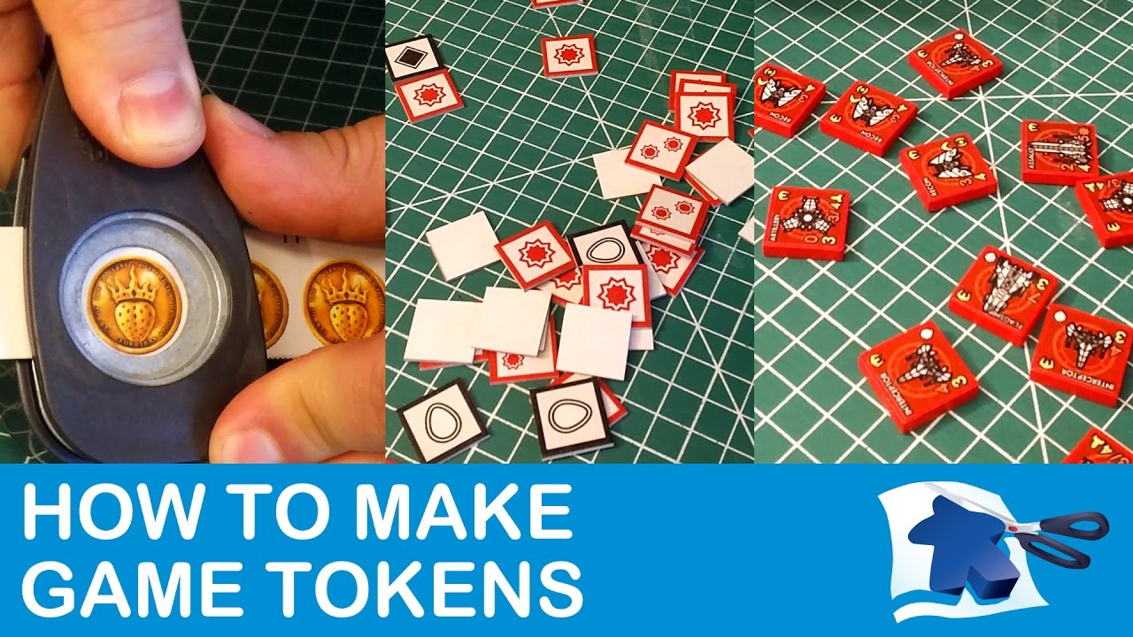 How to Make Tokens - Dining Table Print and Play - YouTube
