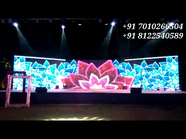 LED Video Wall Stage Backdrop Wedding Reception Event Decoration India +91 8122540589 {WA}