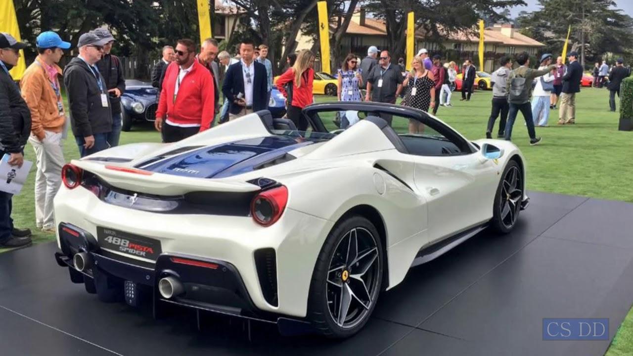 2018 Ferrari 488 Pista Spider. Pebble Beach Concours d'Elegance