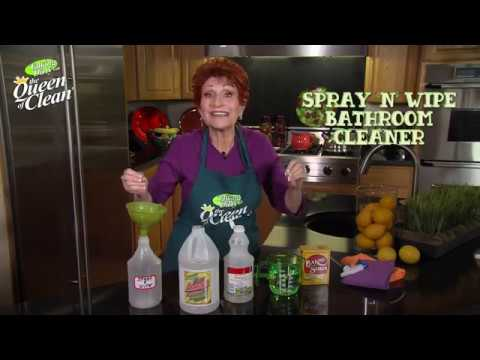 SPRAY ON TILE and GROUT BATHROOM CLEANER - Queen Of Clean