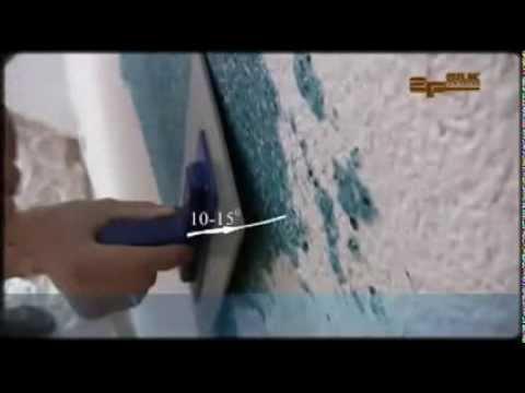 Tencuiala decorativa de matase ( tapete lichide) SILK PLASTER- master  class in aplicare!