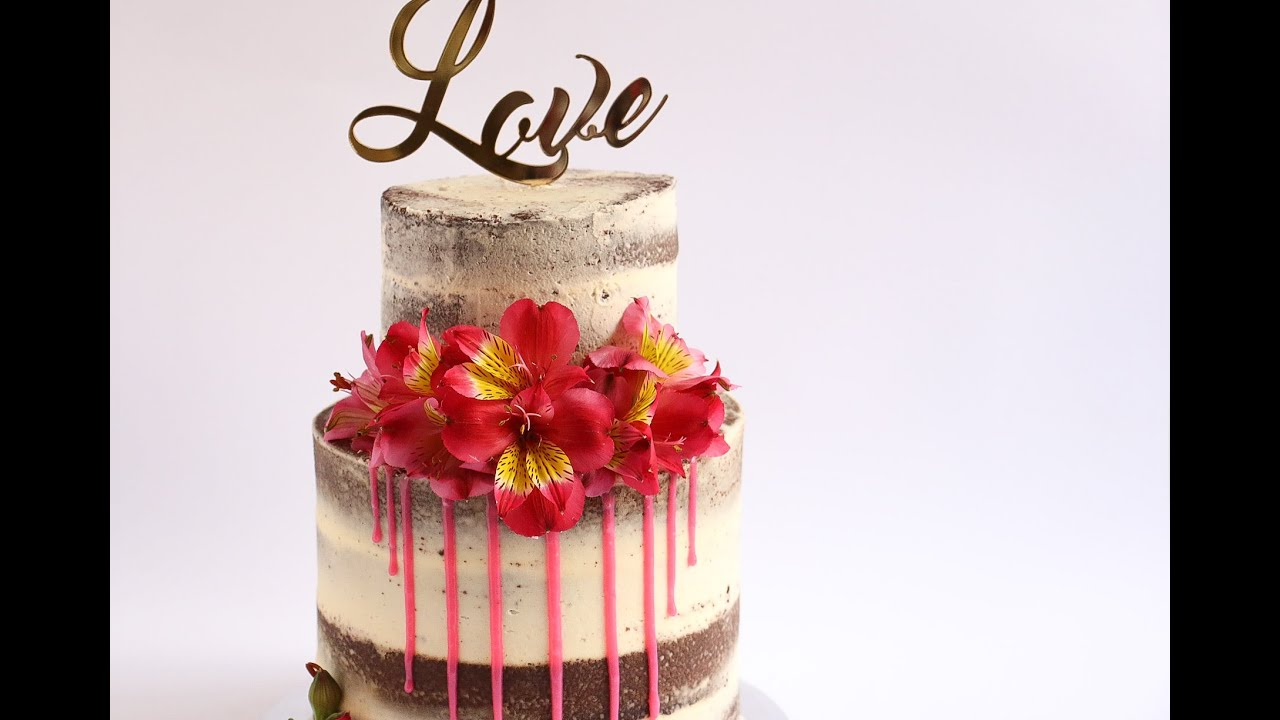 Naked Half Drip Cake Tutorial Rosie S Dessert Spot Youtube